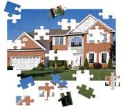 Puzzle domestico di Surburban Fotografie Stock Libere da Diritti