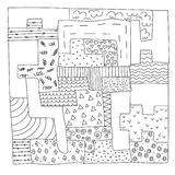 Puzzle doodles Royalty Free Stock Photos