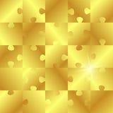 Puzzle dorato Immagine Stock Libera da Diritti
