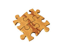 puzzle drewna royalty ilustracja