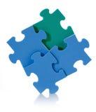 puzzle du bleu 3D Photographie stock libre de droits
