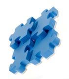 puzzle du bleu 3D Image stock