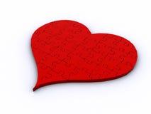 puzzle du coeur 3D Photos libres de droits