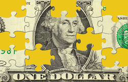 Puzzle du dollar Photos stock