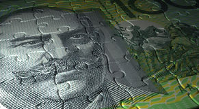 Puzzle du dollar australien Images libres de droits