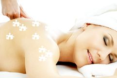 Puzzle du plaisir de massage Photo libre de droits
