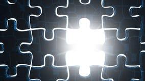 Puzzle e luce del metallo Immagine Stock Libera da Diritti