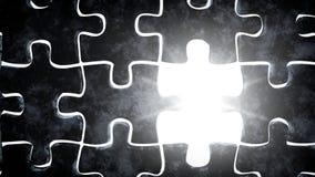 Puzzle e luce di pietra Fotografie Stock Libere da Diritti