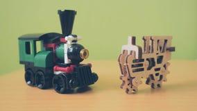 Puzzle e particella elementare di carta Fotografia Stock Libera da Diritti