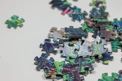 Puzzle e pezzi di puzzle Fotografia Stock Libera da Diritti