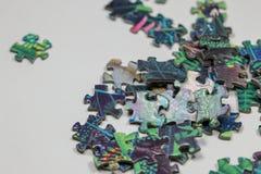 Puzzle e pezzi di puzzle Immagini Stock Libere da Diritti