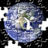 Puzzle of earth Royalty Free Stock Images