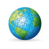 Puzzle Earth Globe Royalty Free Stock Photos