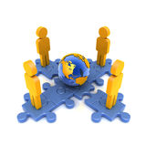 Puzzle_Earth_people Stock Photos