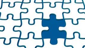Puzzle ed acqua della neve Fotografia Stock