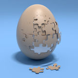 Puzzle egg Royalty Free Stock Photos