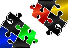 Puzzle elements Royalty Free Stock Image