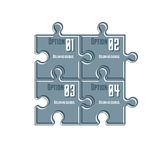 Puzzle elements infographic composition, layout of jigsaw puzzle Royalty Free Stock Photos