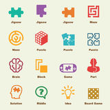 Puzzle elements Royalty Free Stock Photo