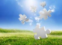 Puzzle en baisse Photo libre de droits