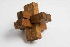 Puzzle en bois Photo libre de droits