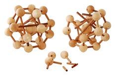Puzzle en bois 4 Photo libre de droits