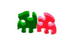 puzzle en bois Photos stock