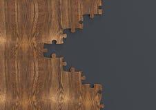 Puzzle en bois sur le gris Photographie stock libre de droits