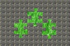 Puzzle en pierre cachant la nature pure Images stock
