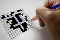 Puzzle en travers de mot d'affaires Images libres de droits