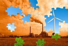 Puzzle environnemental Photographie stock libre de droits