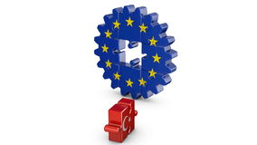 Puzzle  EU and Turkey stock footage