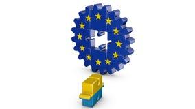 Puzzle  EU and Ukrainian stock footage