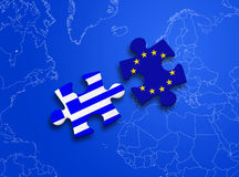 Puzzle European Union Greece Royalty Free Stock Photos