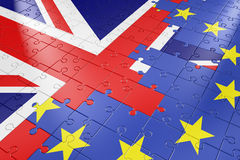 Puzzle European Union and United Kingdom Stock Images