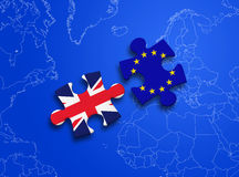 Puzzle European Union United Kingdom Royalty Free Stock Images
