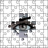 Puzzle and eye 2 Royalty Free Stock Photography