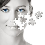 Puzzle Face Stock Photo