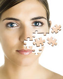 Puzzle Face Royalty Free Stock Photography
