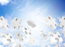 Puzzle falling Stock Images