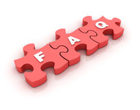 Puzzle FAQ Royalty Free Stock Images