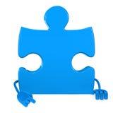 Puzzle figure point Stock Photos