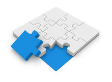 Puzzle final piece. This is a computer generated and 3d rendered picture Royalty Free Stock Photo