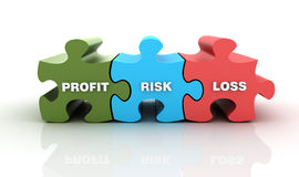 Puzzle with Finance Words Royalty Free Stock Photo