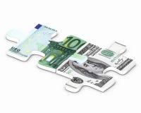 Puzzle financier Photos stock