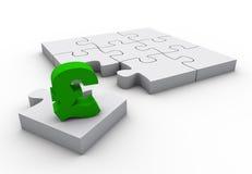 Puzzle financier Photographie stock libre de droits