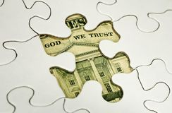 Puzzle finanziario Immagine Stock Libera da Diritti