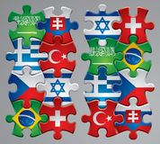 Puzzle Flag Icons 4 Royalty Free Stock Photos