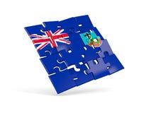 Puzzle flag of montserrat isolated on white Stock Photo