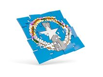 Puzzle flag of northern mariana islands isolated on white Royalty Free Stock Photos